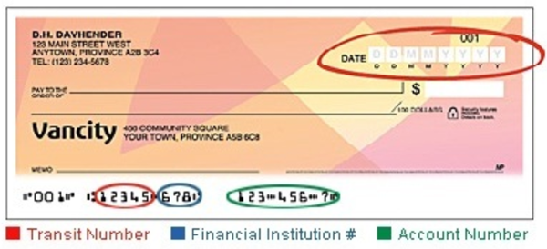 Identify the Components of a Check (Cheque)